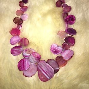 Barse Pink Agate Necklace